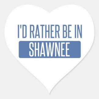 Adesivo Coração Eu preferencialmente estaria no Shawnee