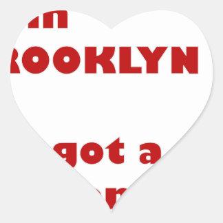 Adesivo Coração Eu sou de Brooklyn