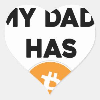 Adesivo Coração Eu sou rico - meu pai tem Bitcoin