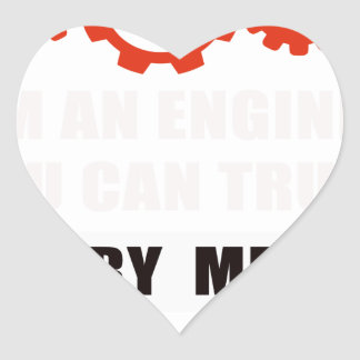 Adesivo Coração Eu sou um engenheiro que você pode confiar