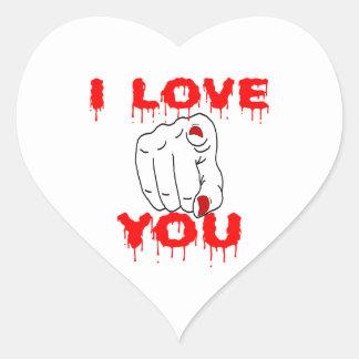 Adesivo Coração Eu te amo