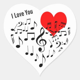 Adesivo Coração Eu te amo engraçado um--um-amável