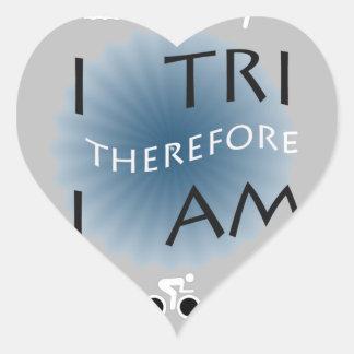 Adesivo Coração Eu tri conseqüentemente mim sou Triathlon