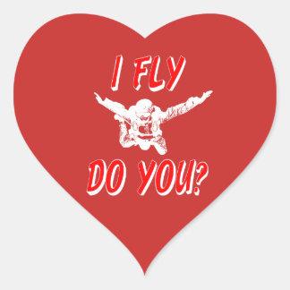 Adesivo Coração Eu vôo, faz você? (branco)