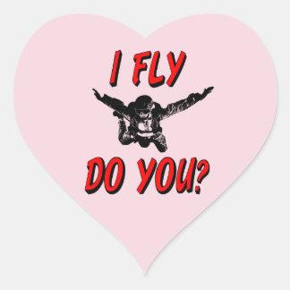 Adesivo Coração Eu vôo, faz você? (preto)