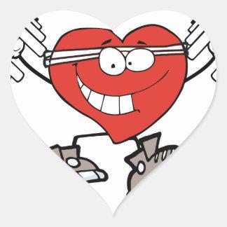Adesivo Coração exercício heart2