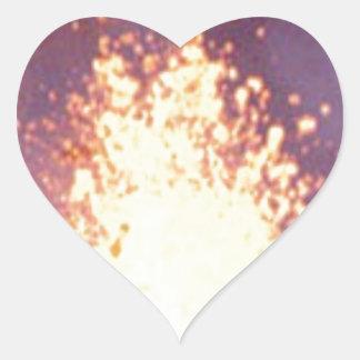 Adesivo Coração explosão do fogo
