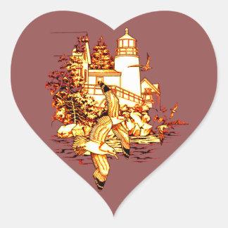Adesivo Coração Farol