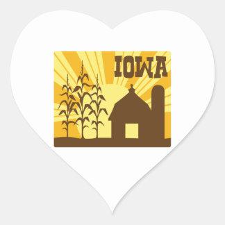 Adesivo Coração Fazenda do milho de Iowa