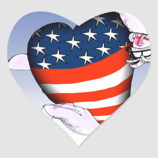 Adesivo Coração fernandes tony altos e orgulhosos de nebraska,