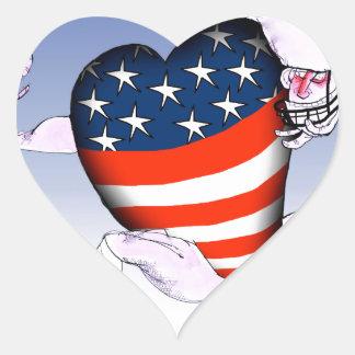 Adesivo Coração fernandes tony altos e orgulhosos de North Dakota,