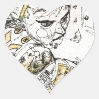Adesivo Coração Figura brinquedo