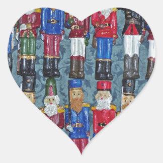 Adesivo Coração Figuras do natal vintage, soldados idosos