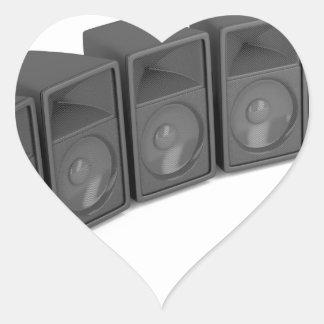 Adesivo Coração Fileira dos auto-falante