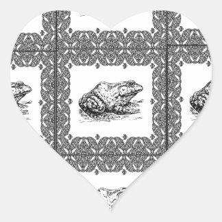 Adesivo Coração fileiras dos sapos