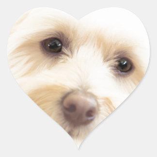 Adesivo Coração Filhote de cachorro celestial