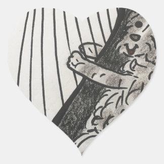 Adesivo Coração Filhote de cachorro da harpa