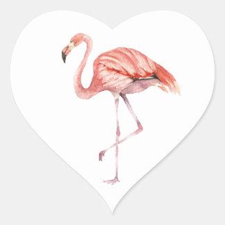 Adesivo Coração Flamingo cor-de-rosa