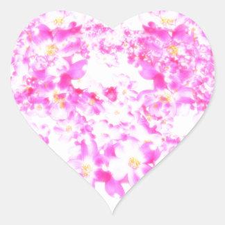 Adesivo Coração Flor cor-de-rosa do Dogwood