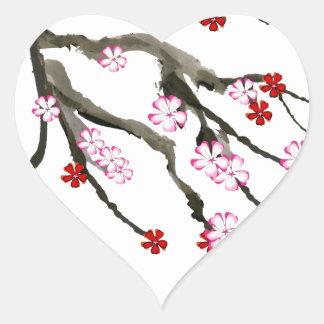 Adesivo Coração flor de cerejeira 10 Tony Fernandes