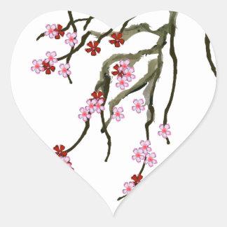 Adesivo Coração flor de cerejeira 12 Tony Fernandes