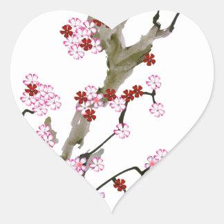 Adesivo Coração Flor de cerejeira 16 Tony Fernandes