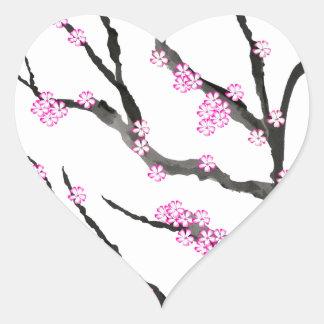Adesivo Coração Flor de cerejeira 21 de Sakura, Tony Fernandes