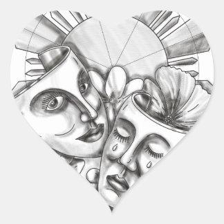 Adesivo Coração Flor S filipino de Sampaguita do hibiscus da