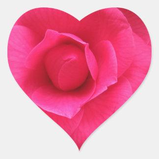 Adesivo Coração Flor vermelha do japonica Rachele Odero da camélia