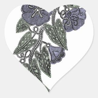 Adesivo Coração Flores 2 do laço