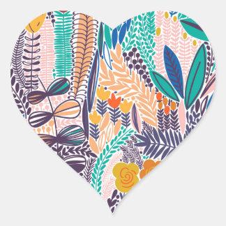 Adesivo Coração Flores do jardim da mística