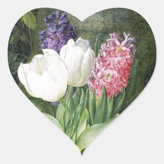 Adesivo Coração Flores do primavera do Dutch