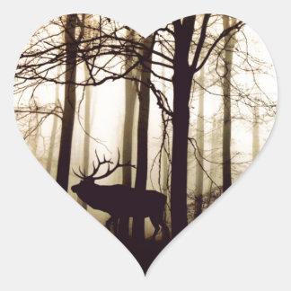 Adesivo Coração floresta