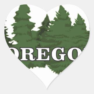 Adesivo Coração Floresta de Oregon