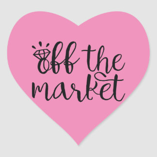 Adesivo Coração Fora do mercado