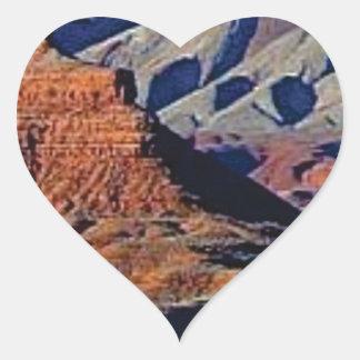 Adesivo Coração formas naturais do deserto