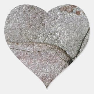Adesivo Coração Foto macro do latido do pinho