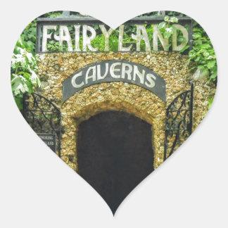 Adesivo Coração Fotografia da natureza das cavernas do Fairyland
