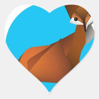 Adesivo Coração Fox