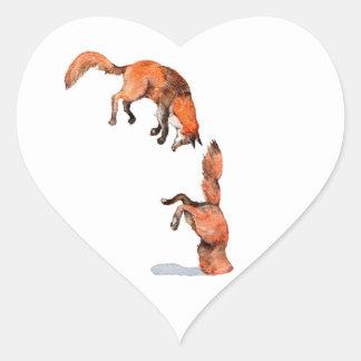Adesivo Coração Fox vermelho de salto