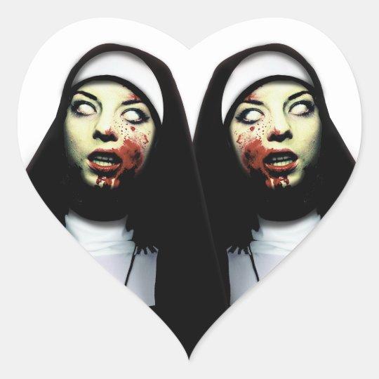 Adesivo Coração Freiras do horror