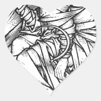 Adesivo Coração Frey assentou no trono de Odin