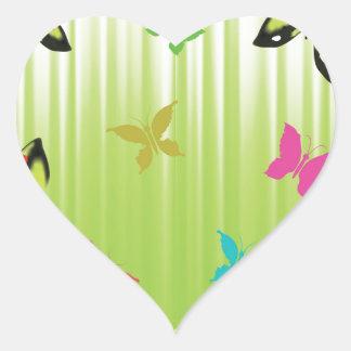 Adesivo Coração fundo 102Green _rasterized