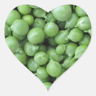 Adesivo Coração Fundo da ervilha verde. Textura de ervilhas verdes