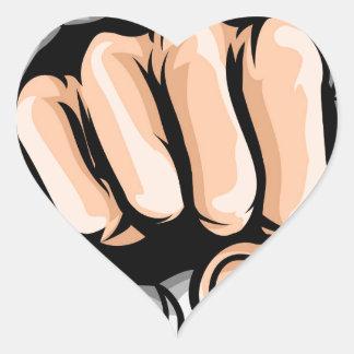 Adesivo Coração Furo de perfuração do punho