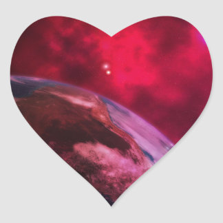 Adesivo Coração Galáxia roxa 2 - purple galaxy