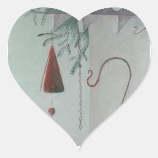 Adesivo Coração Gancho e carrilhão