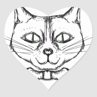 Adesivo Coração Gato sofisticado