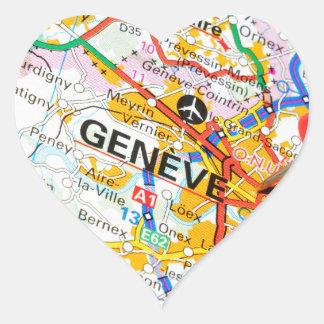 Adesivo Coração Geneve, Genebra, suiça