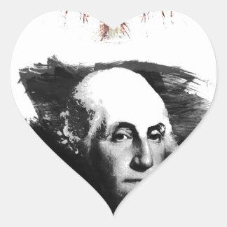 Adesivo Coração George Washington